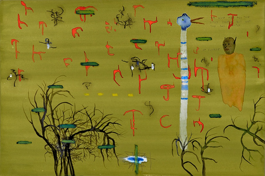 john lurie art, we must help all the good people, but not the bad people, 2014
